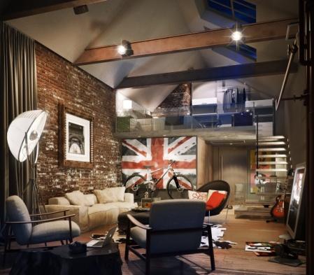 Emejing Wohnzimmer Industrial Style Ideas - Rellik.us - rellik.us